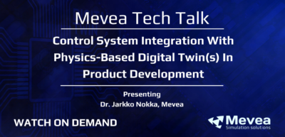 Control System Integration With Physics-Based Digital Twin(s) In Product Development