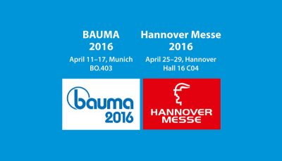 Meet us in BAUMA and Hannover Messe