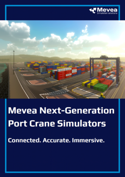 Port crane simulator borchure – cover