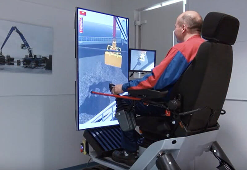 Simulator-aided training at Mantsinen